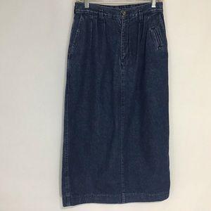 Dockers Blue Denim Skirt Sz 10 Length: 33 inches
